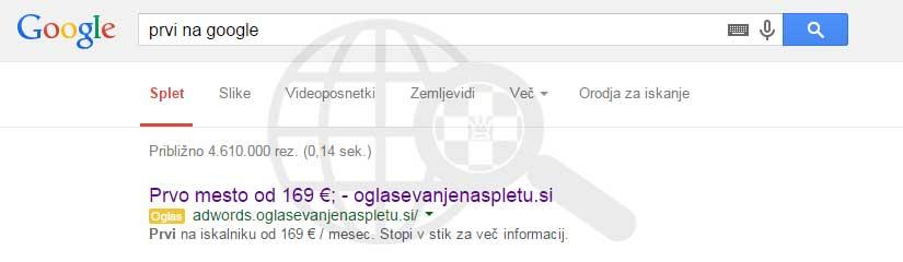 prvi na google