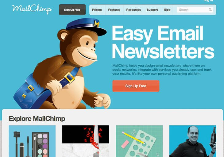 mail-chimp orodja za e-poštni marketing