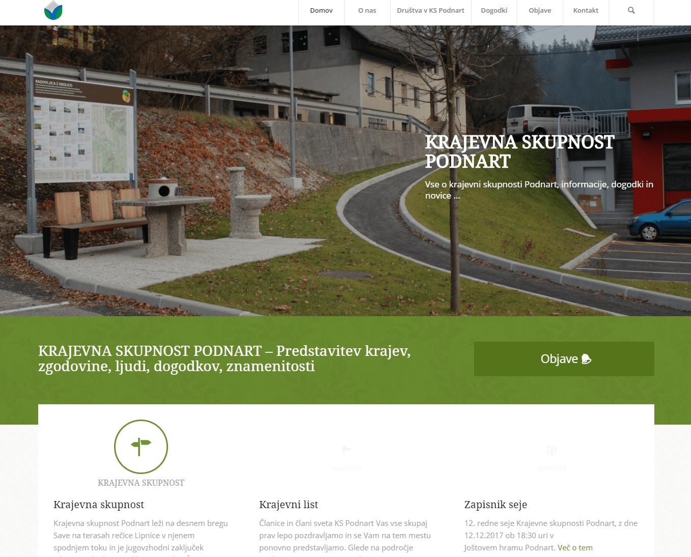izdelava spletnih strani podnart.si