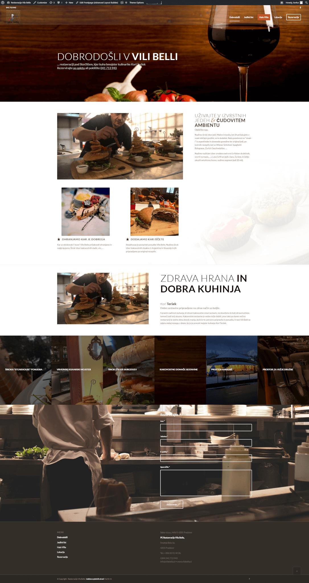 izdelava spletne strani za restavracijo