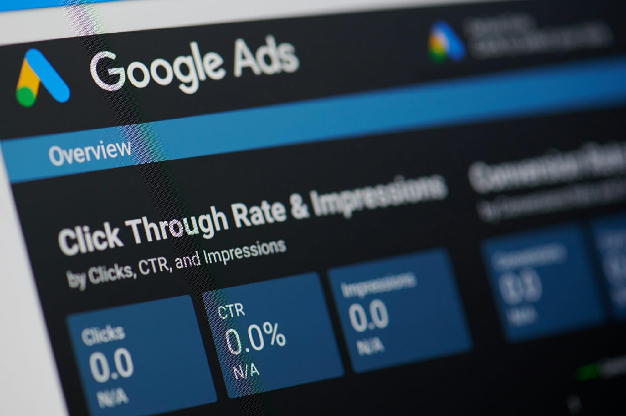 Google ads oglaševanje cena